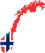 Norway-Map-Flag