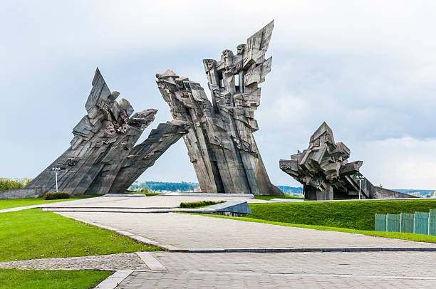 Kaunas, Lithuania - September 24, 2013. Ninth Fort Monument dedicated to the victims of Nazism.