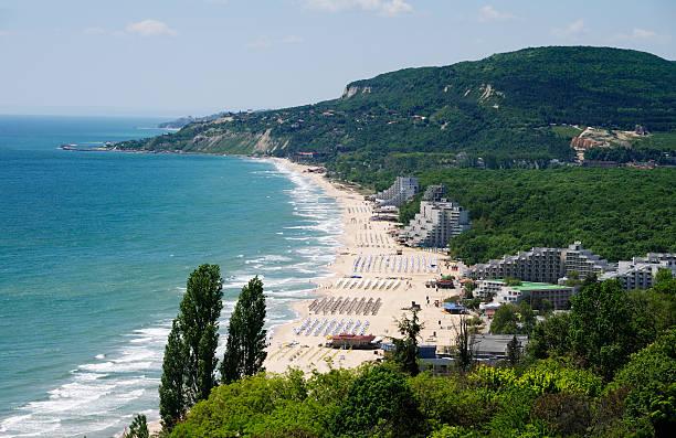 Albena resort, at Black Sea, near Varna, Bulgaria. Panoramic view.