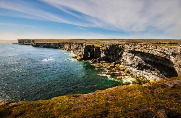 Vertiginous cliffs above the Atlantic Ocean on Inishmore (Aran Islands)