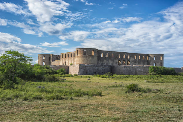 Ruins of old scandinavian castle.
