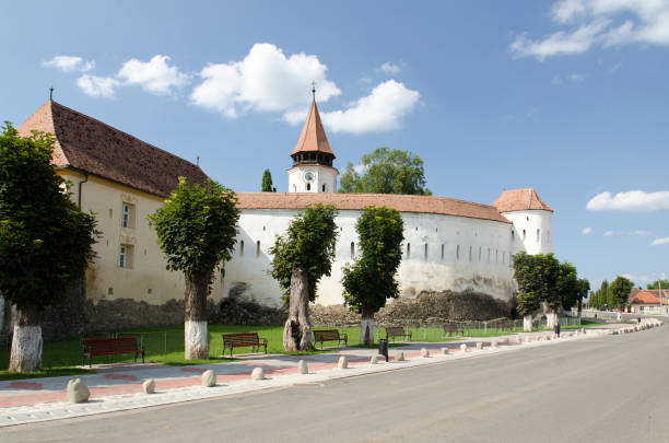 The fortified church of Prejmer in Brasov county. Southeastern Transylvania has one of the highest numbers of still-existing 13th to 16th centuries fortified churches.