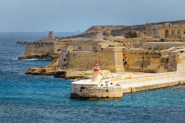 View of Fort Rinella from St. Elmo, Valletta