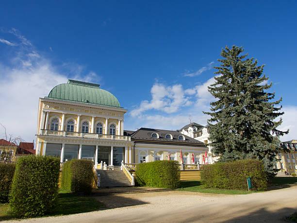 Franzensbad, Czech Republic - April 20, 2014: The spa and spa gardens in Franzensbad (Františkovy Lázně)