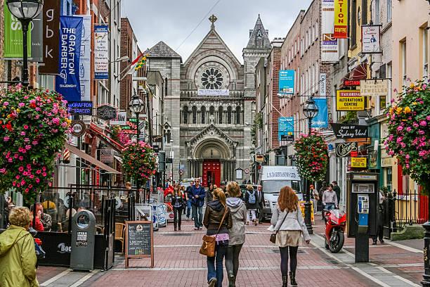 Shoppers on Grafton Street. Dublin, Ireland