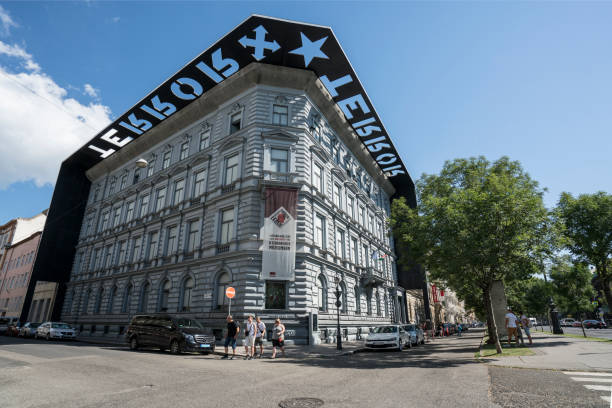 Budapest, Hungary. July 2018. The house of terror museum building in Budapest, Hungary