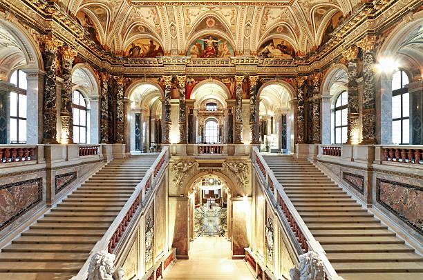 """Staircase in Kunsthistorisches Museum (Museum of Fine Arts), Vienna"""
