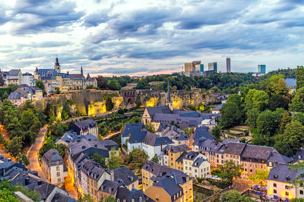 Luxembourg at sunset