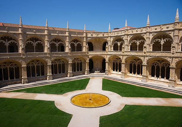 Cloister of Hieronymites Monastery (Mosteiro dos Jerónimos) in Lisbon, Portugal.