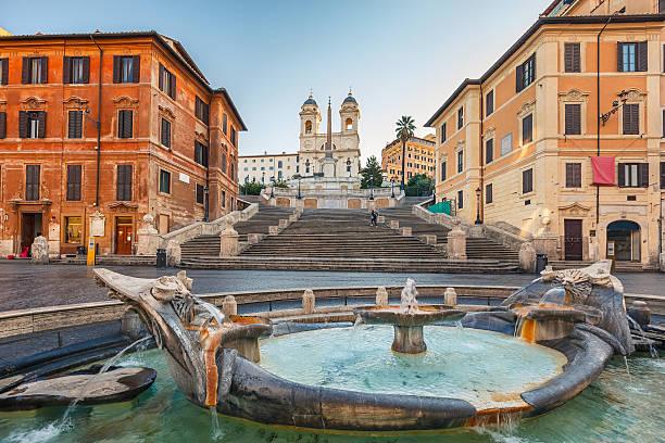Spanish Steps at morning, Rome, Italy