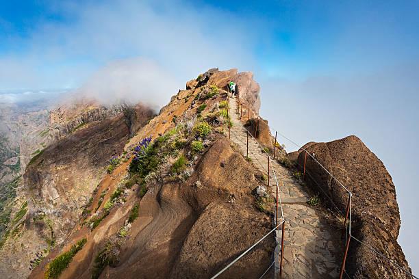 Trekking from Pico do Arieiro to Pico Ruivo, Madeira island, Portugal