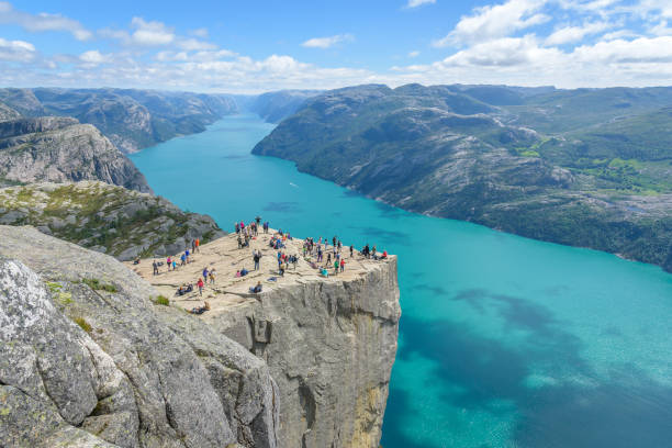 Popular hiking destination in Norway, Rogaland