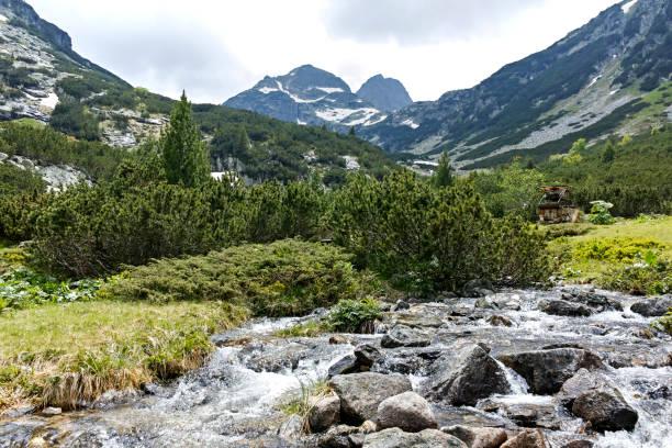 Amazing landscape near Malyovitsa peak and Malyoviska river, Rila Mountain, Bulgaria
