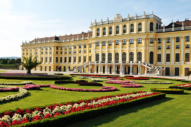 Vienna, Austria - July 7, 2011: Architectural detail of the Schonbrunn imperial palace, one of the major tourist attractions in Vienna, Austria