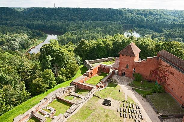 Sigulda, Latvia - September 2, 2014: Old Turaida castle in Sigulda.