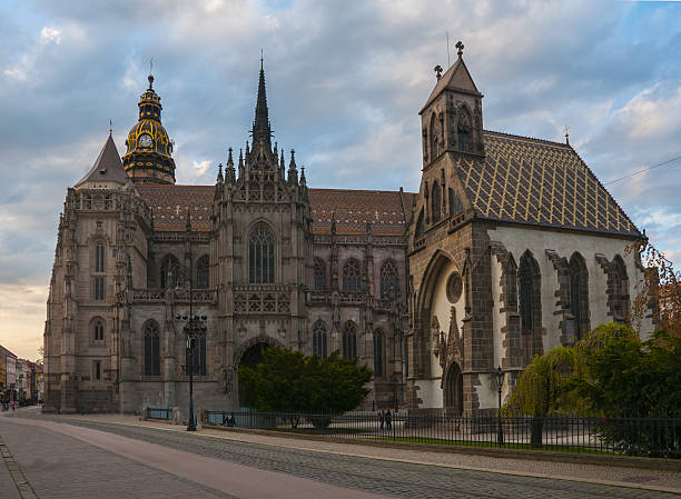 St. Michael chapel and St. Elisabeth cathedral in the main square of Kosice city, Slovakia