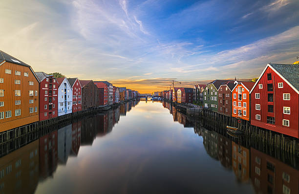 Old storehouses in Trondheim, Norway.