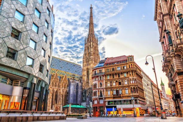 Stephansplatz, view on the St. Stephen's Cathedral in Vienna.