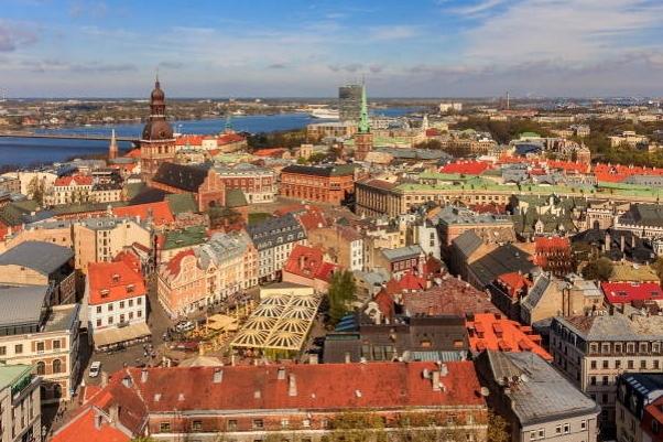 Vecrīga (Latvian: Old Riga) is the historical center of Riga, Latvia, located on the east side of Daugava River.