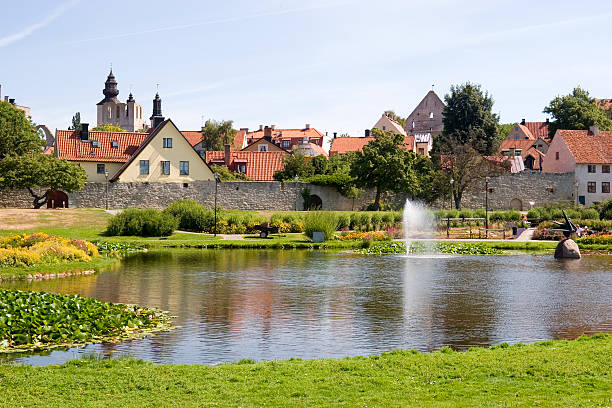 """""""Almedalen and the old city walls of Visby, Sweden. Almedalen was originally the medieval harbour of Visby."""""""