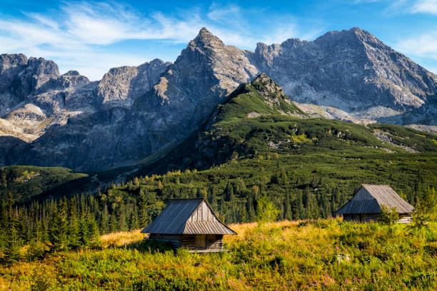Gasienicowa Valley with abandoned in the 40's the shepherd huts, Tatra Mountains, Poland