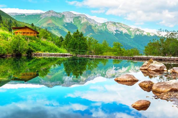 Mountain lake (Zelene pleso) in High Tatras National Park, Slovakia