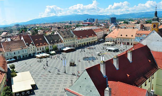 sibiu city romania Grand Square general view