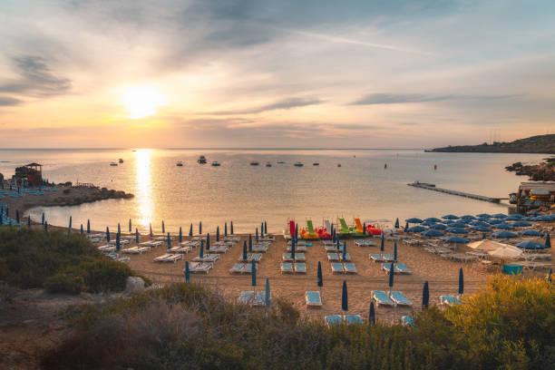 Beautiful beach of Konnos Bay in Cape Greko natural park, Cyprus